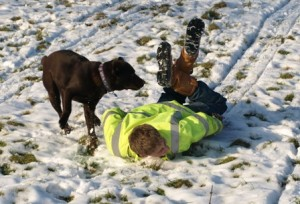 Sledging with Twix