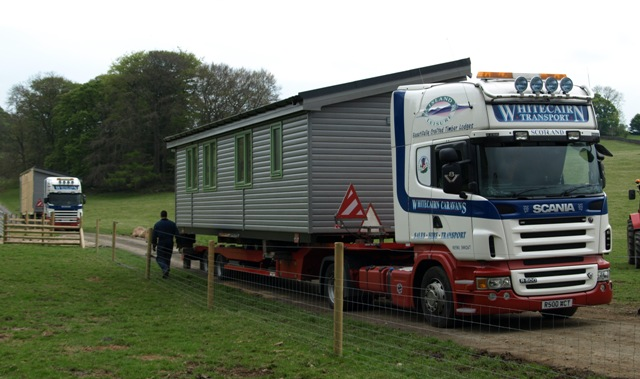 New log cabin arrives at Hoe Grange