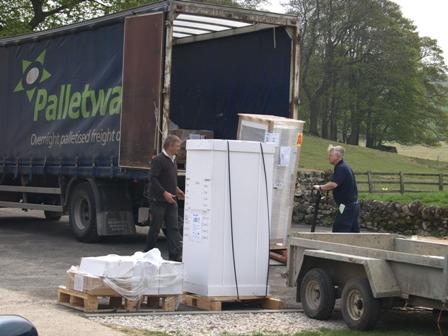 Ground source heat pumps arrive on site
