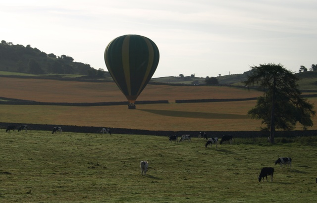 Coming into land at Hoe Grange