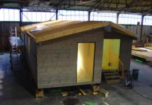 Outer cladding completed