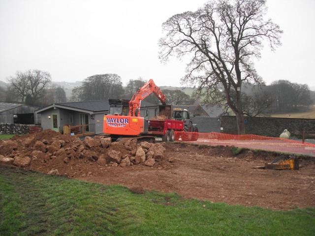 Digging Daisybank foundations