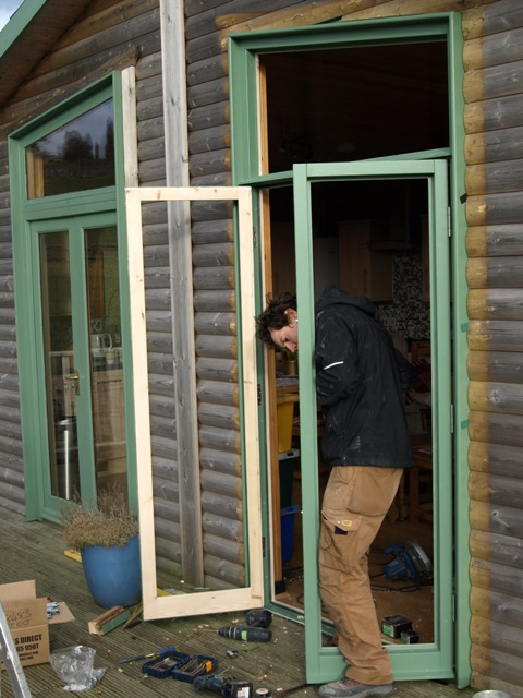 New french doors for Hipley cabin