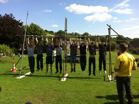 Hanging around - strong men of Brassington