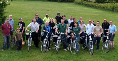Members of the Peal District Electric Bicycle Network