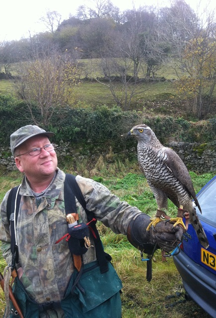 Stuart with his female Goshawk