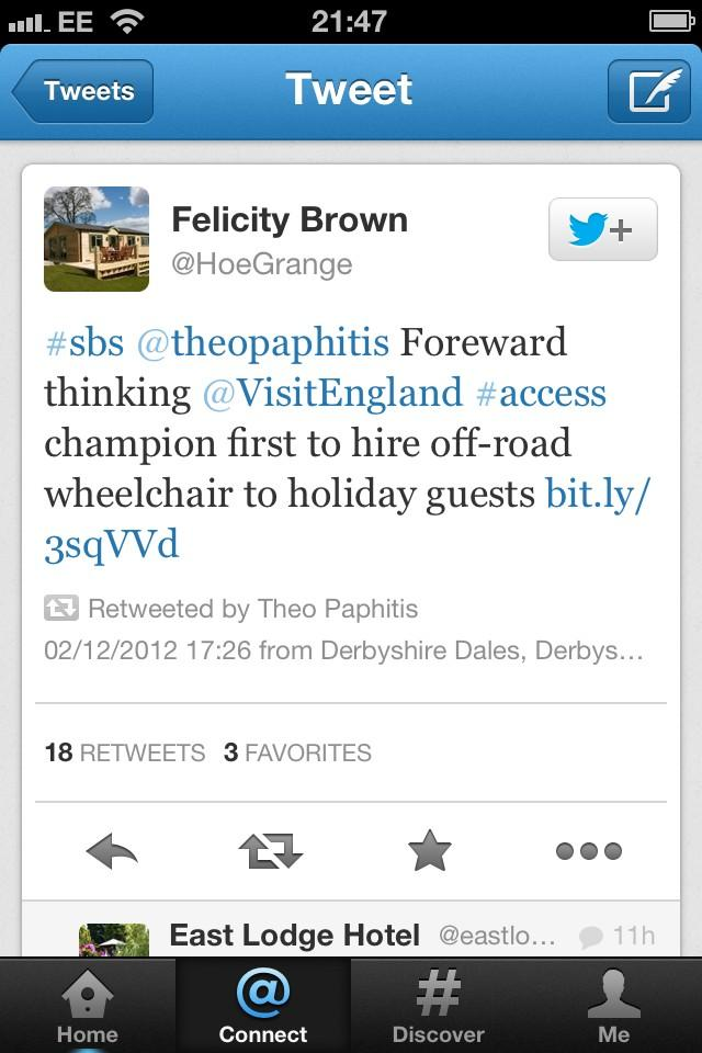 #SBS Tweet Re-Tweeted by Thoe Paphitis