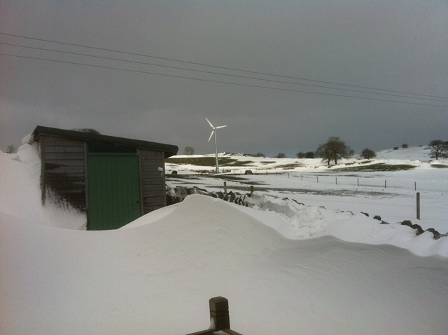 extreme snow drifts at Hoe Grange
