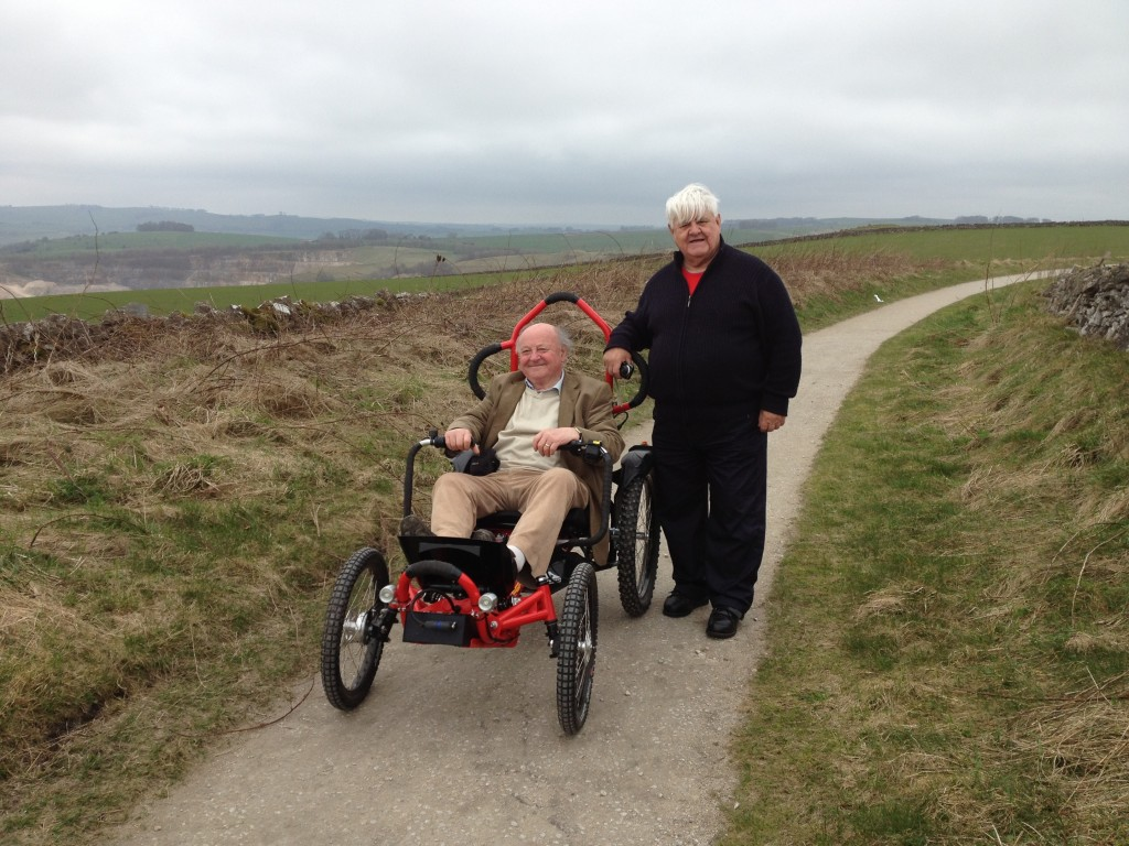 off-road wheelchair on High Peak Trail