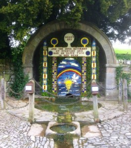 Decorated well at Tissington hall