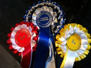Rosettes from the Hartington Wakes Sports and Show
