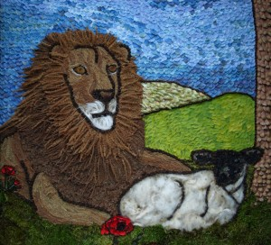 The Lion and The Lamb - look carefully the lion even has whiskers!