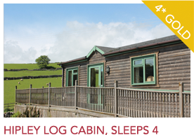 hipley log cabin, sleeps 4