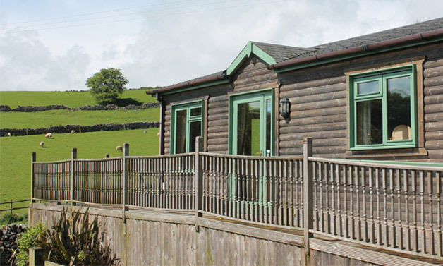 All four contemporary log cabins are rated under the National Accessible Scheme