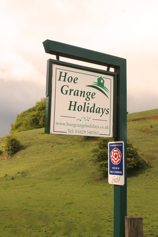 Hoe Grange Holidays sign