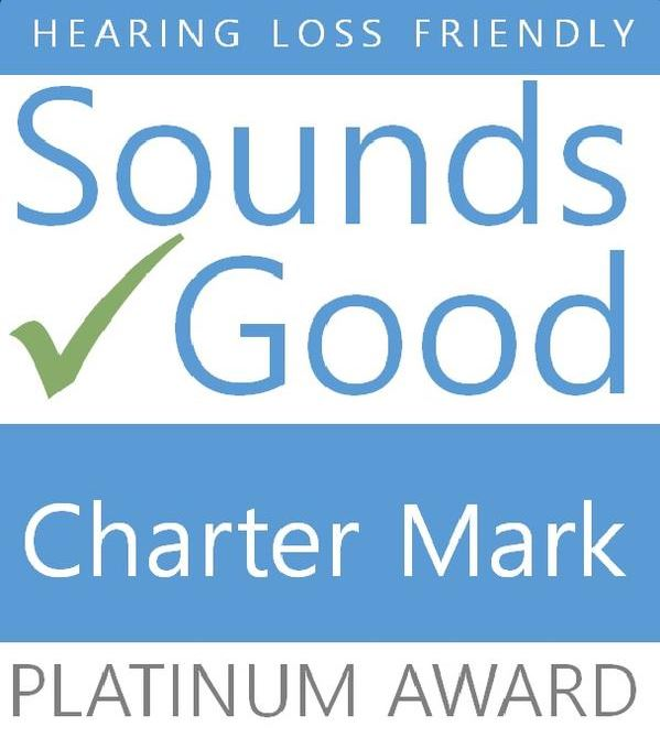 Sounds Good Platinum Award from Hearing Loss Friendly