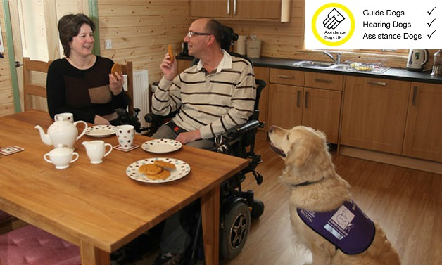 We welcome guide dogs, assistance dogs and hearing dogs - they need a holiday too!