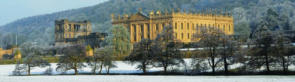 Chatsworth House in winter