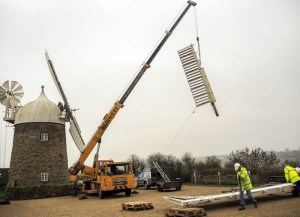 Heage windmill sails removed