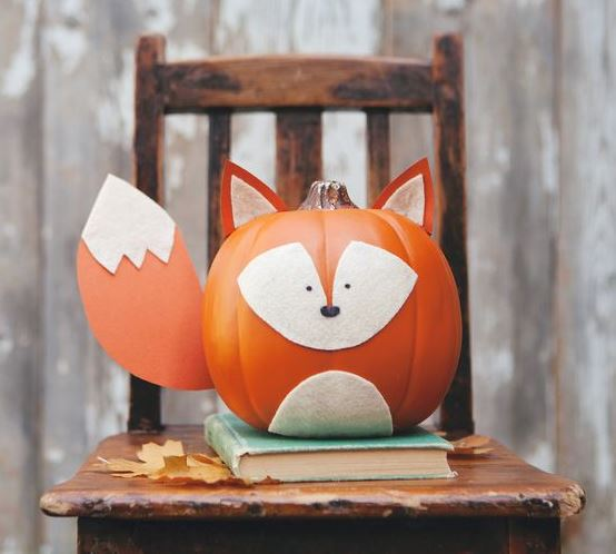 fox carved pumpkin