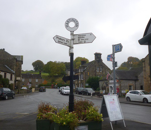 Hartington Village signpost