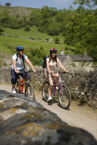 Cycling at Wetton Mill