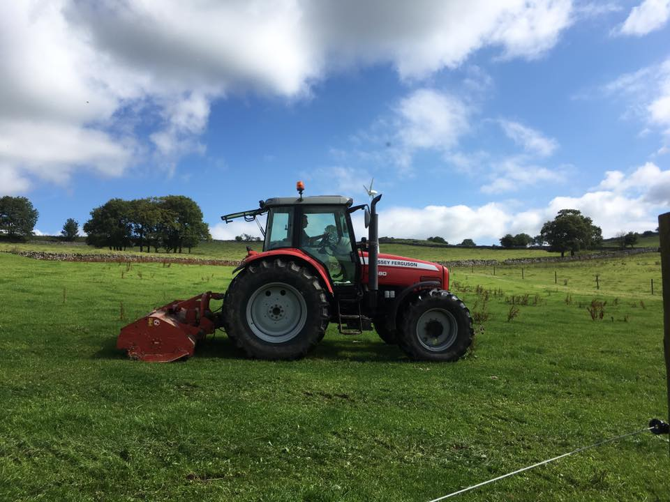 Tractor pasture topping