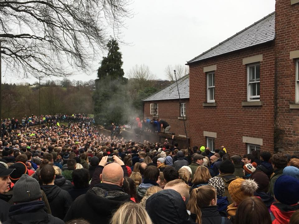 Ashbourne Royal Shrovetide Football 2018 - Hoe Grange Holidays