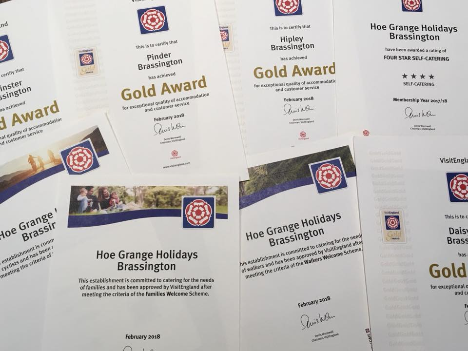 VisitEngland 4 Star Gold Awards
