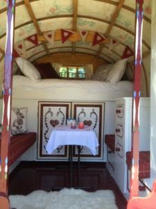 inside Rose Hip gypsy caravan