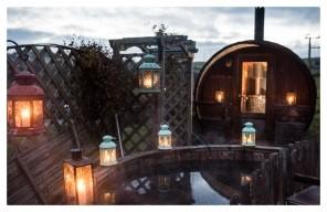 log-fired sauna