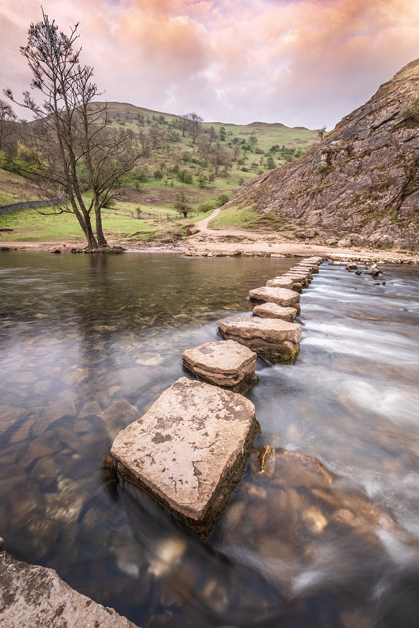 Dovedale Stepping Stones by Wesley Kristopher Chambers