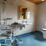 Accessible wet room with Closomat toilet