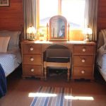 Hipley log cabin twin bedroom