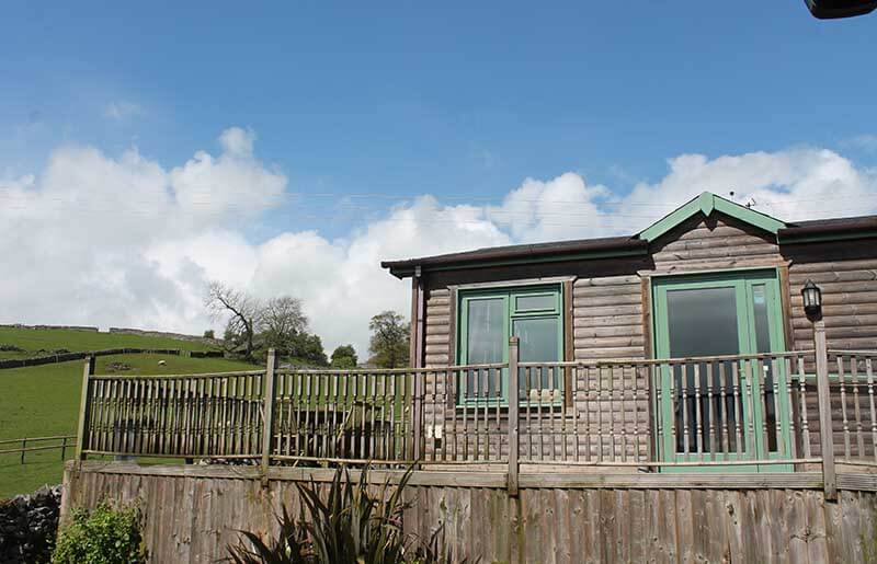Hipley log cabin near Ashbourne