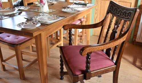 High Seated Dining Chair (with arms)