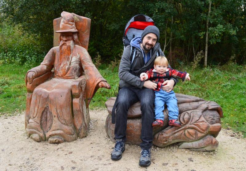 family walk at Carsington Water