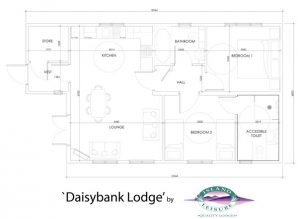 Daisybank Log Cabin floor-plan