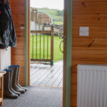 porch with wellies
