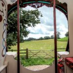 view from Gypsy caravan