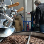 roasting coffee at Peak Bean