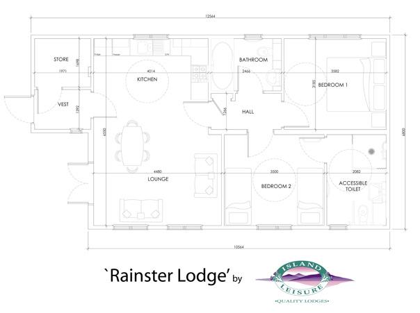 Rainster Cabin Floor Plan