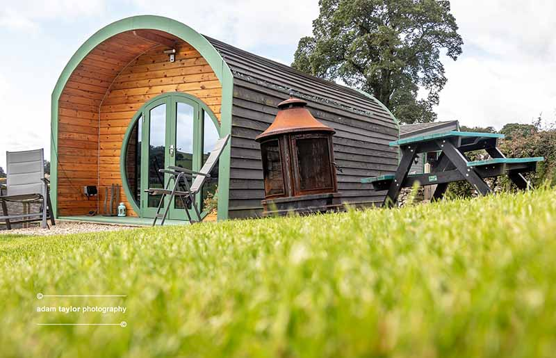 Glamping pod at Hoe Grange Holidays