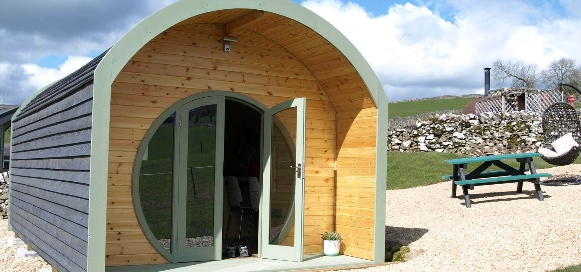 Gorgeous glamping pod at Hoe Grange