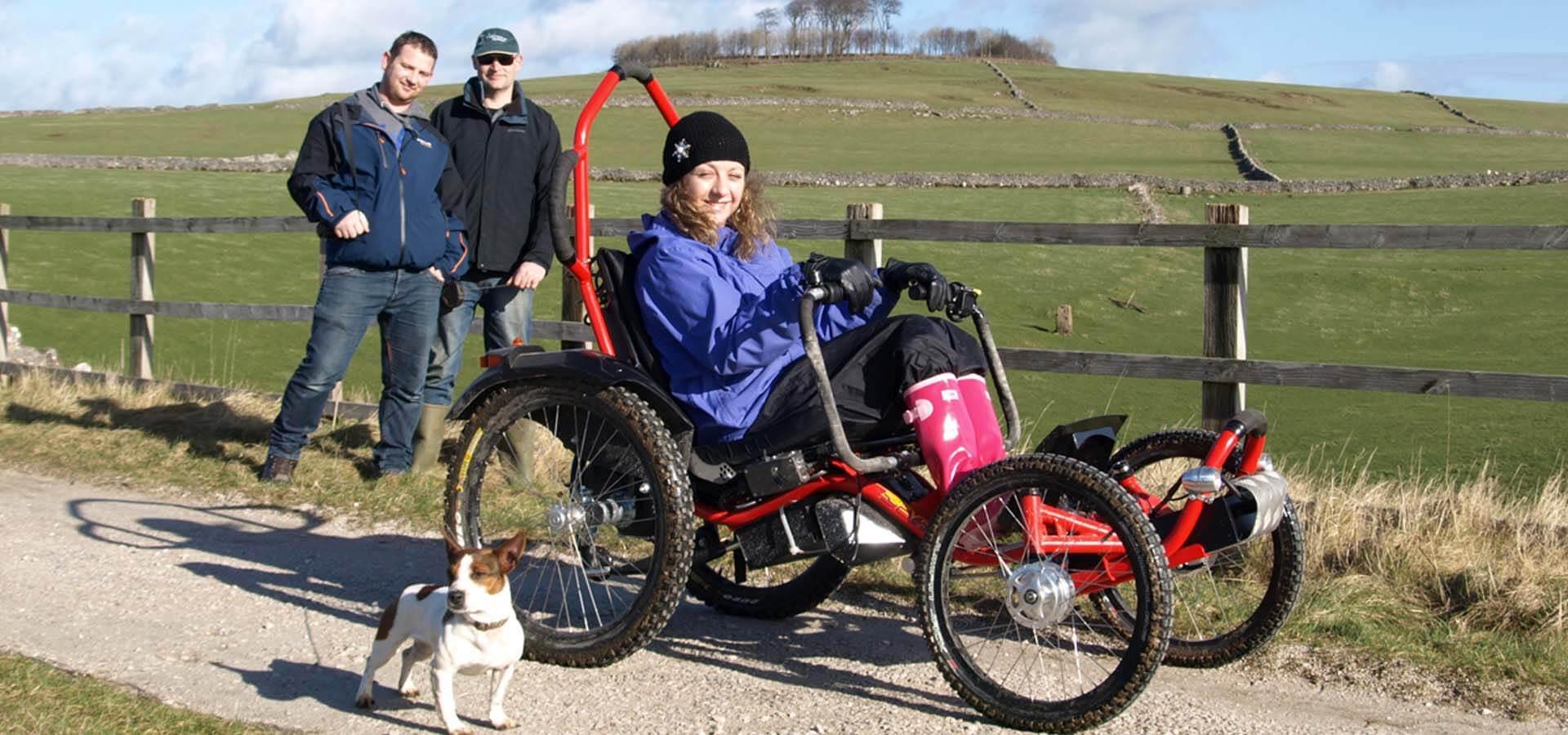 Boma 7 off-road wheelchair near Minninglow