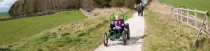 Off-Road Wheelchair on High Peak Trail