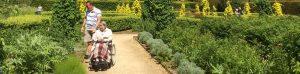 wheelchair accessible garden at Haddon Hall