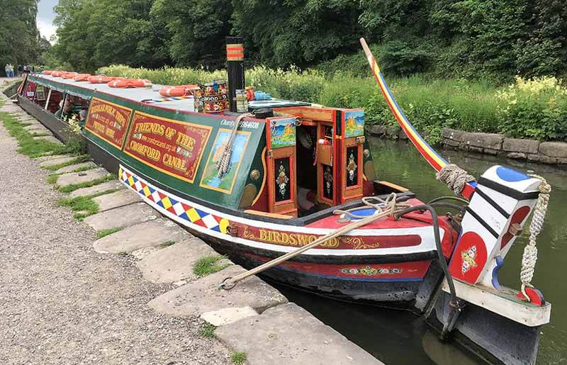 Canal boat at Cromford Canal