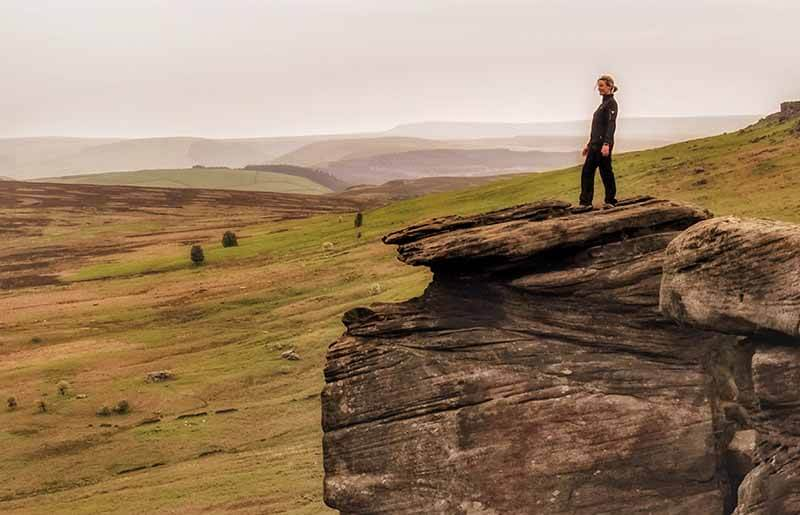 Stanage Edge Keira Knightly rock