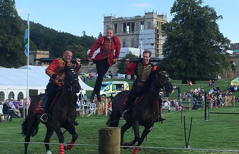 Horse display at Chatsworth Country Fair